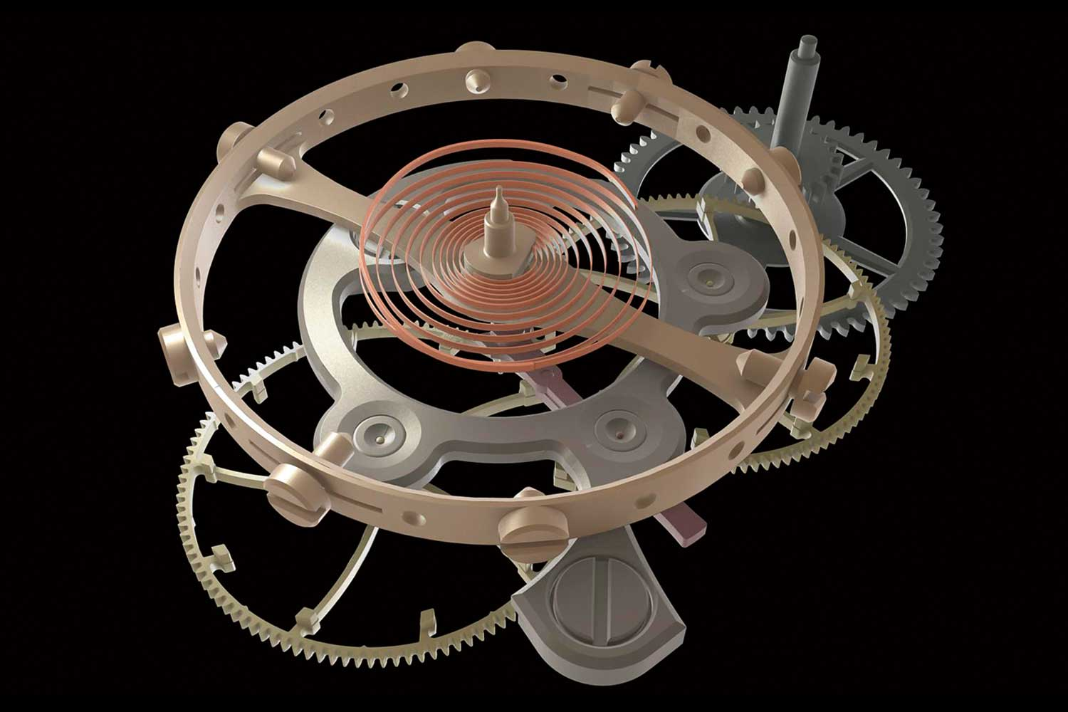 Schematics of LAURENT FERRIER's escapement.
