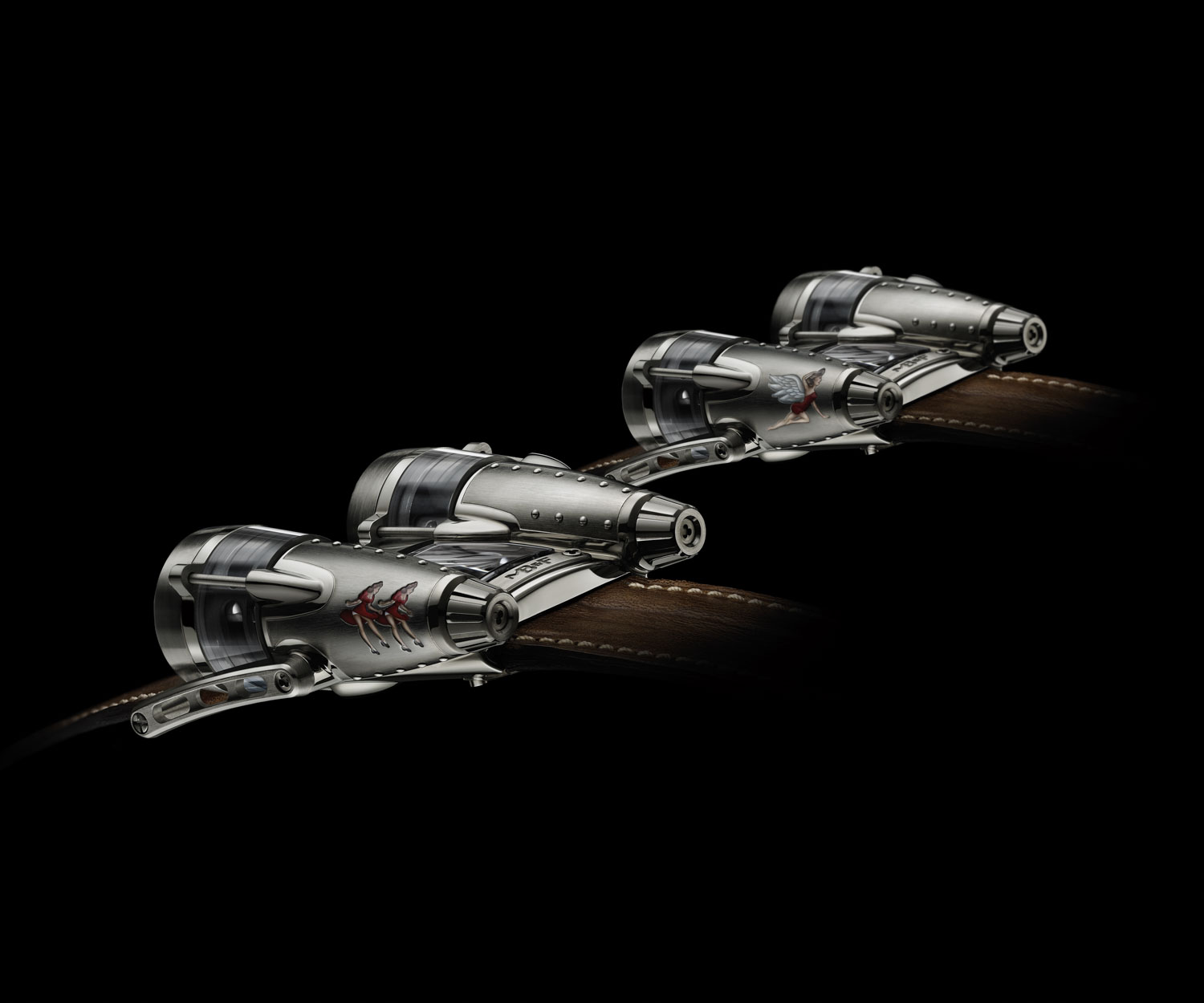The MB&F HM4 Razzle Dazzle and Double Trouble launched in 2011