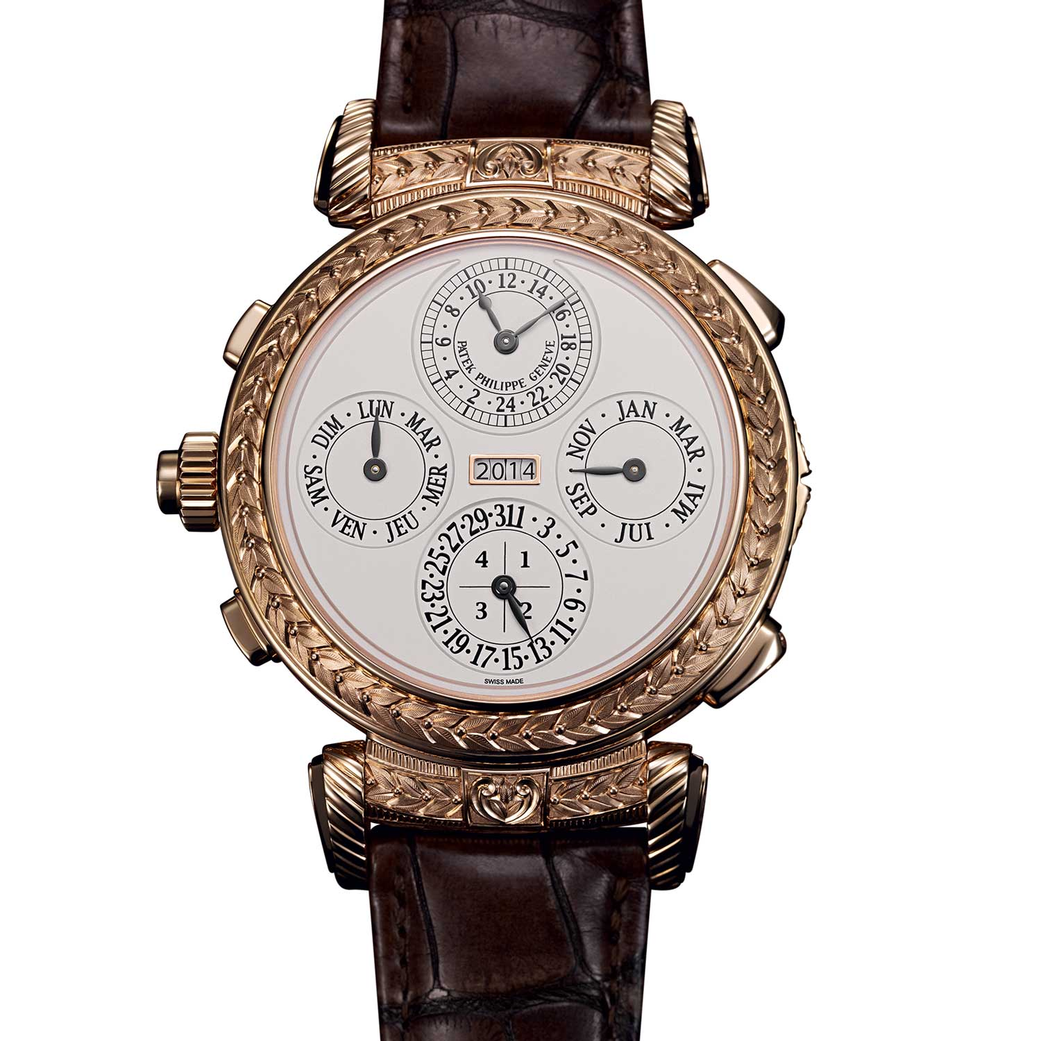 The Calendar Side: Grandmaster Chime launched in 2014 to celebrate Patek's 175th anniversary was a double-face wristwatch, boasting 20 complications