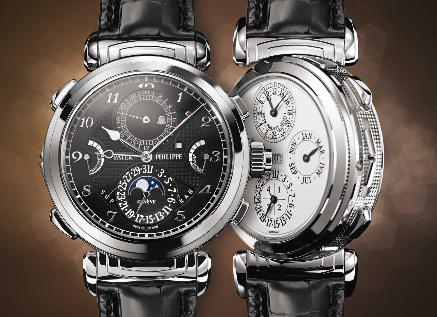 In 2016, the Grandmaster Chime became part of Patek's regular production as the ref. 6300, with more discreet hand engine-turned engraving on the case-middle than the elaborately hand-engraved ref. 5175