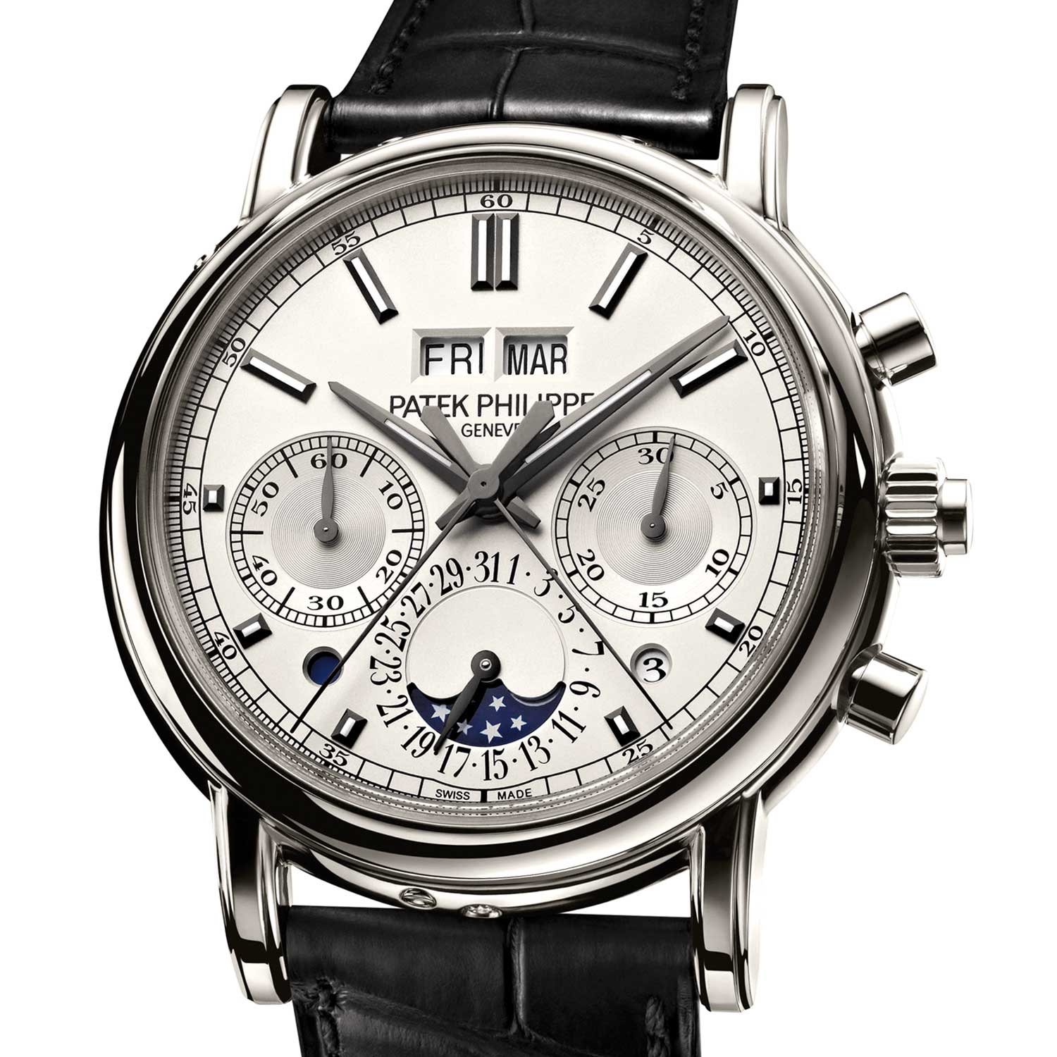 The Patek Philippe Split Second Perpetual Calendar Chronograph was lauched with the 5204P-001 in 2012; the watch was the first to be powered by the CH 29-535 PS Q