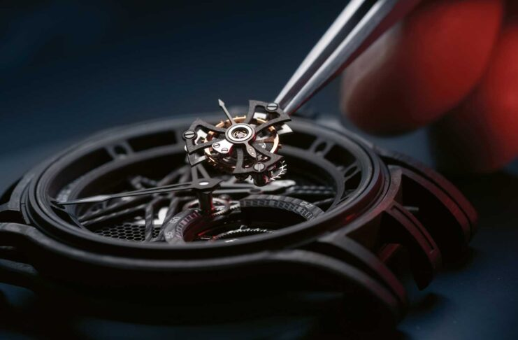Roger Dubuis was one of the first brands to create a skeletonised carbon-fibre movement