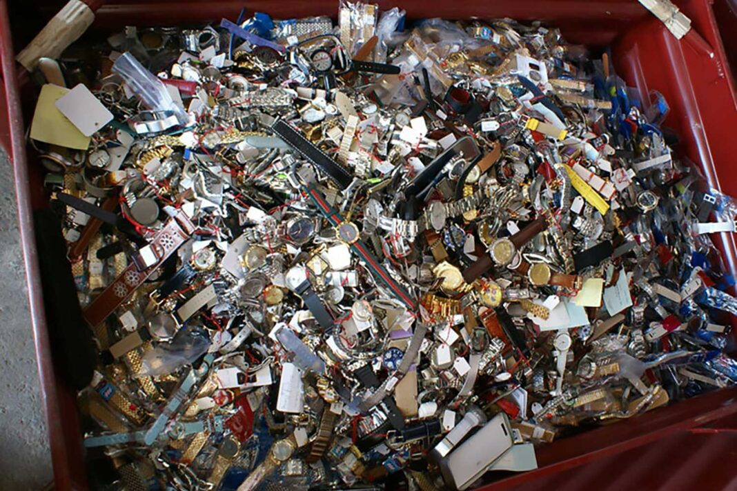 The only good that can come from counterfeit watches is once they have been recycled (Image: journal.hautehorlogerie.org)
