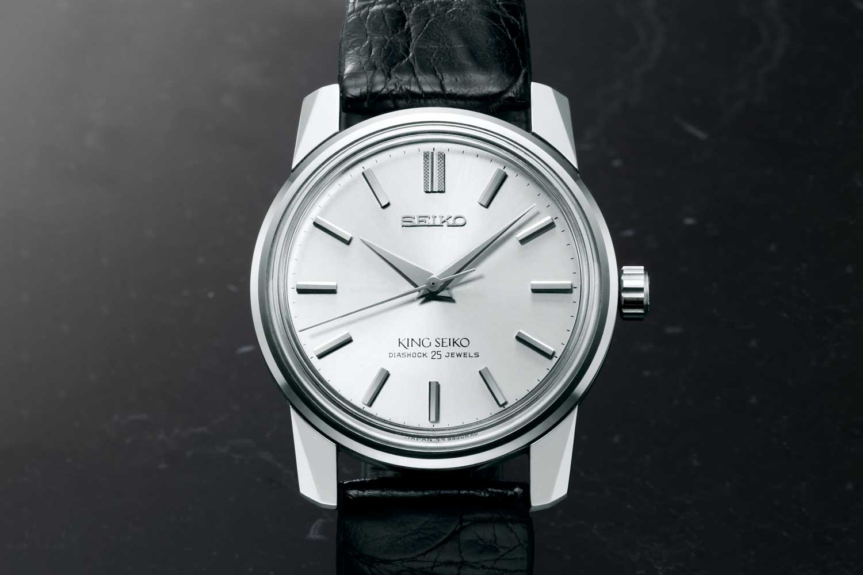 The 1965 King Seiko KSK presented a distinctive, angular profile.