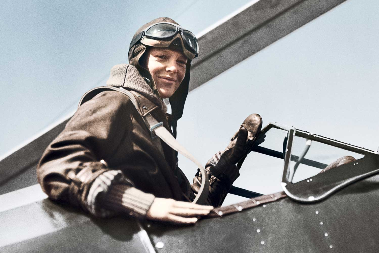 American aviator, Amelia Earhart who became the first female aviator to fly solo across the Atlantic Ocean in 1932, in 14 hours and 56 minutes, is one of four early 20th century legends who served as inspiration for the 2020 Longines Spirit collection