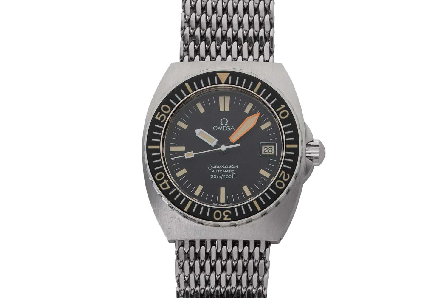 40mm Omega Seamaster 120 'Baby Proplof' with Orange Minute Hand ref. ST 166.0250, Circa mid-1970s