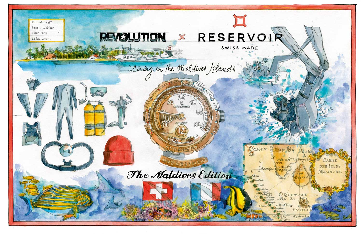 Artwork by Alain Bouldouyre, commissioned by Reservoir to tell the story of our collaboration.