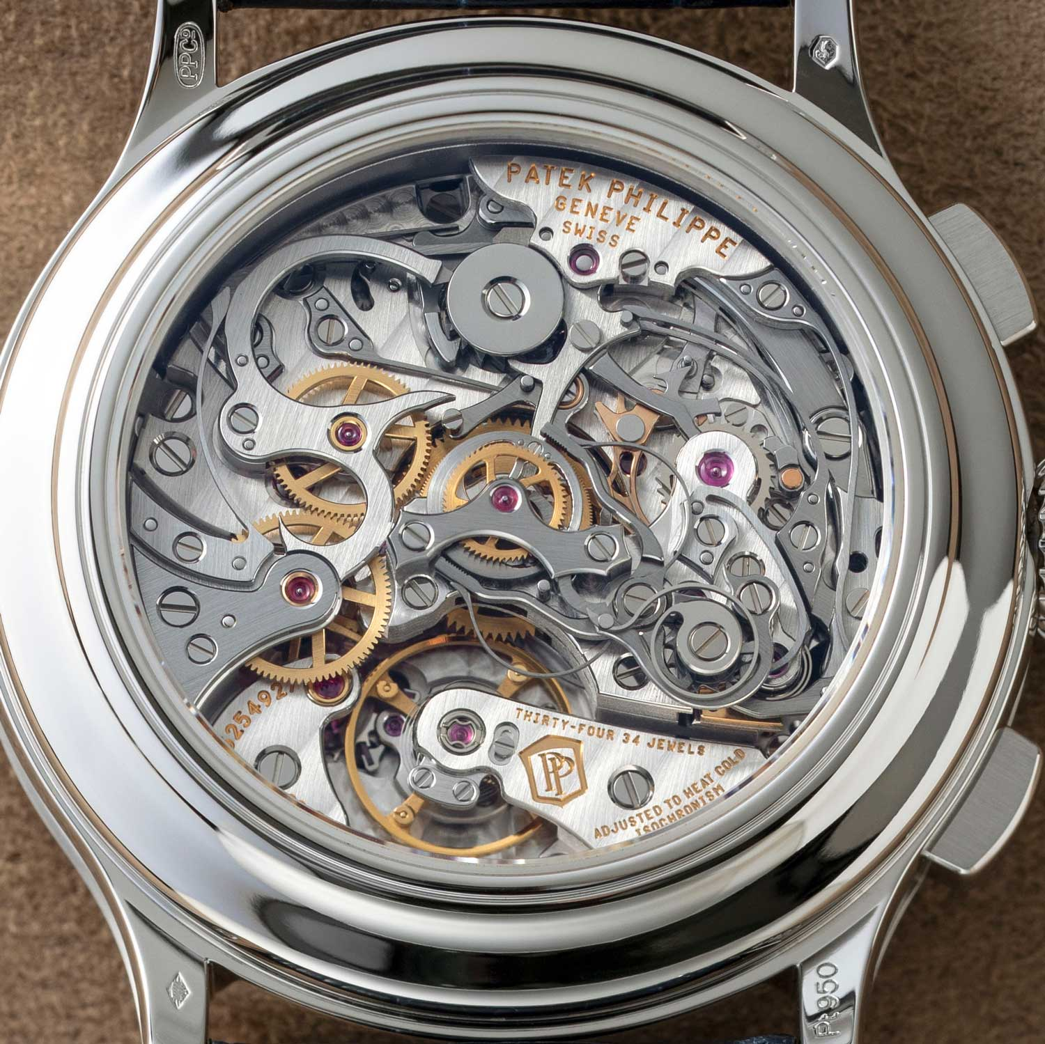 The caseback view of the 5370P-011, showcasing the CH 29-535 PS within (©Revolution)