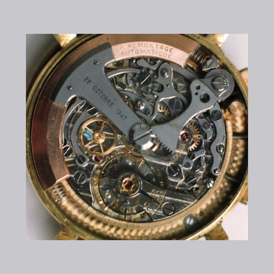Long before the birth of the 1969 birth of the automatic chronograph movement, the prototype Lemania 2310 self-winding movements may very well have been the world's very first automatic chronograph movements (Image: Northernman from omegaforums.net)