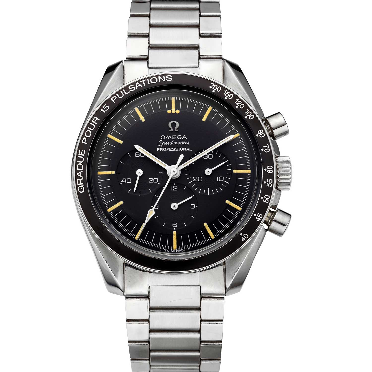 The Speedmaster ref. ST 105.012 with a pulsation scale bezel (Image: Christies.com)