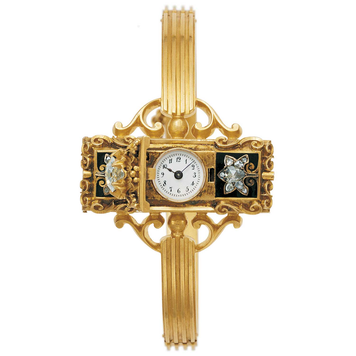 1968: Patek Philippe creates the first Swiss wristwatch, made for Countess Koscowicz of Hungary