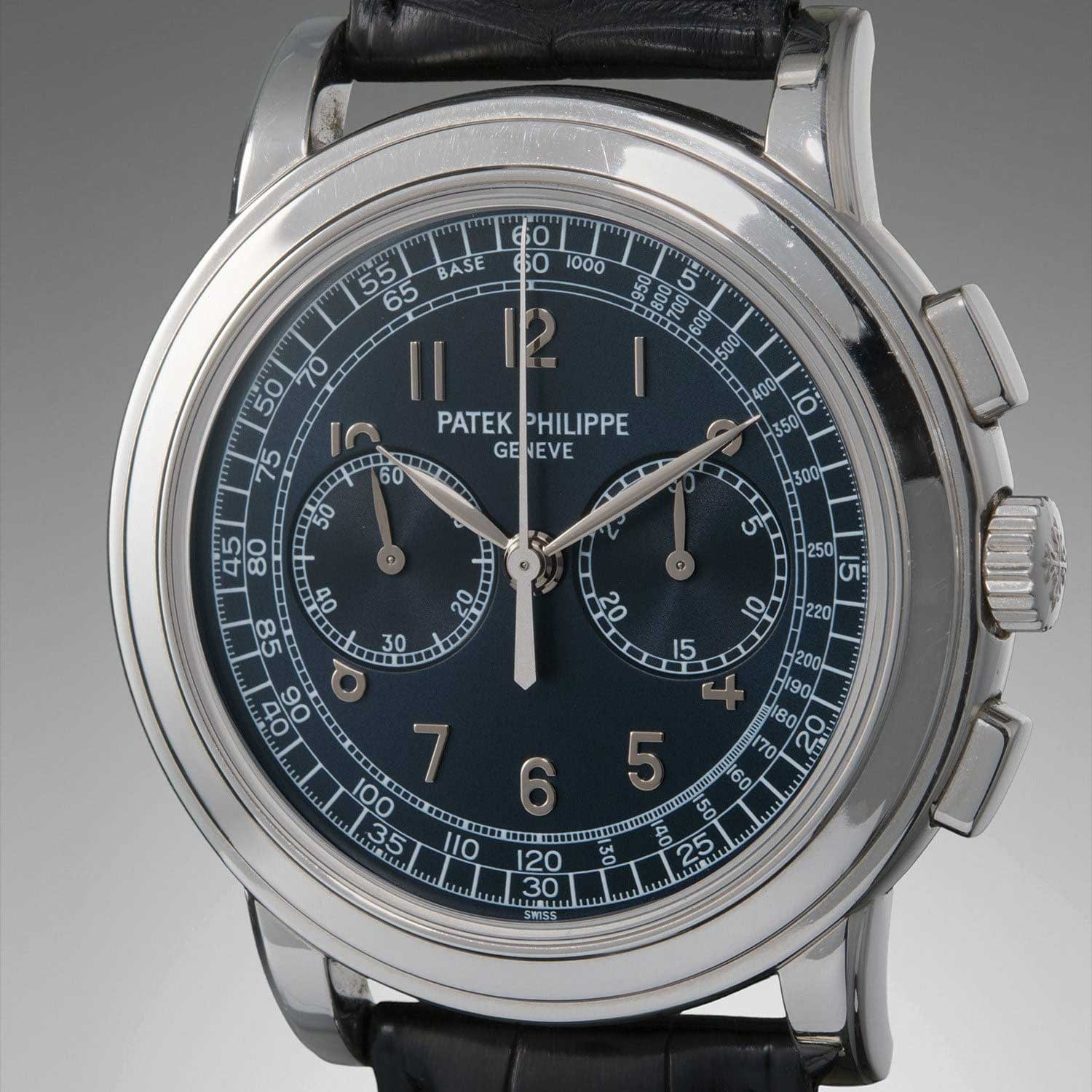 The Patek Philippe ref. 5070, at 42mm the largest wrist watch chronograph to feature the CH 27-70 (Image: Phillips.com)