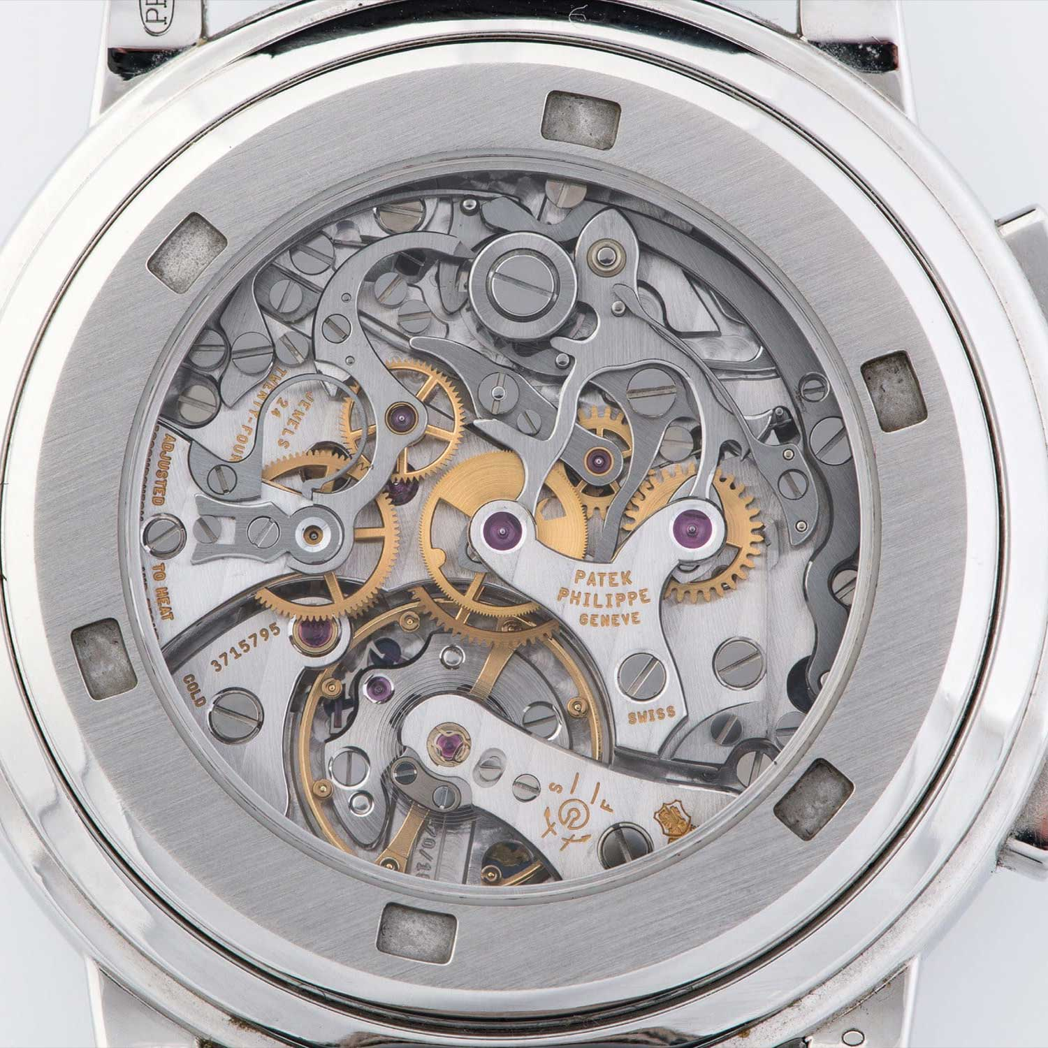 Display caseback of the 5070 showcasing the CH 27-70 within (Image: Phillips.com)