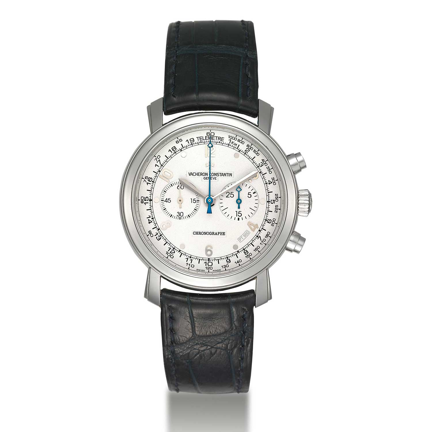 """Vacheron Constantin introduced in 2006 a strictly limited edition of 75 timepieces of the """"Malte Chronograph"""" cased in platinum, part of the of the """"Collection Excellence Platine"""", the watches are fitted with a platinum dial (Image: Christies.com)"""