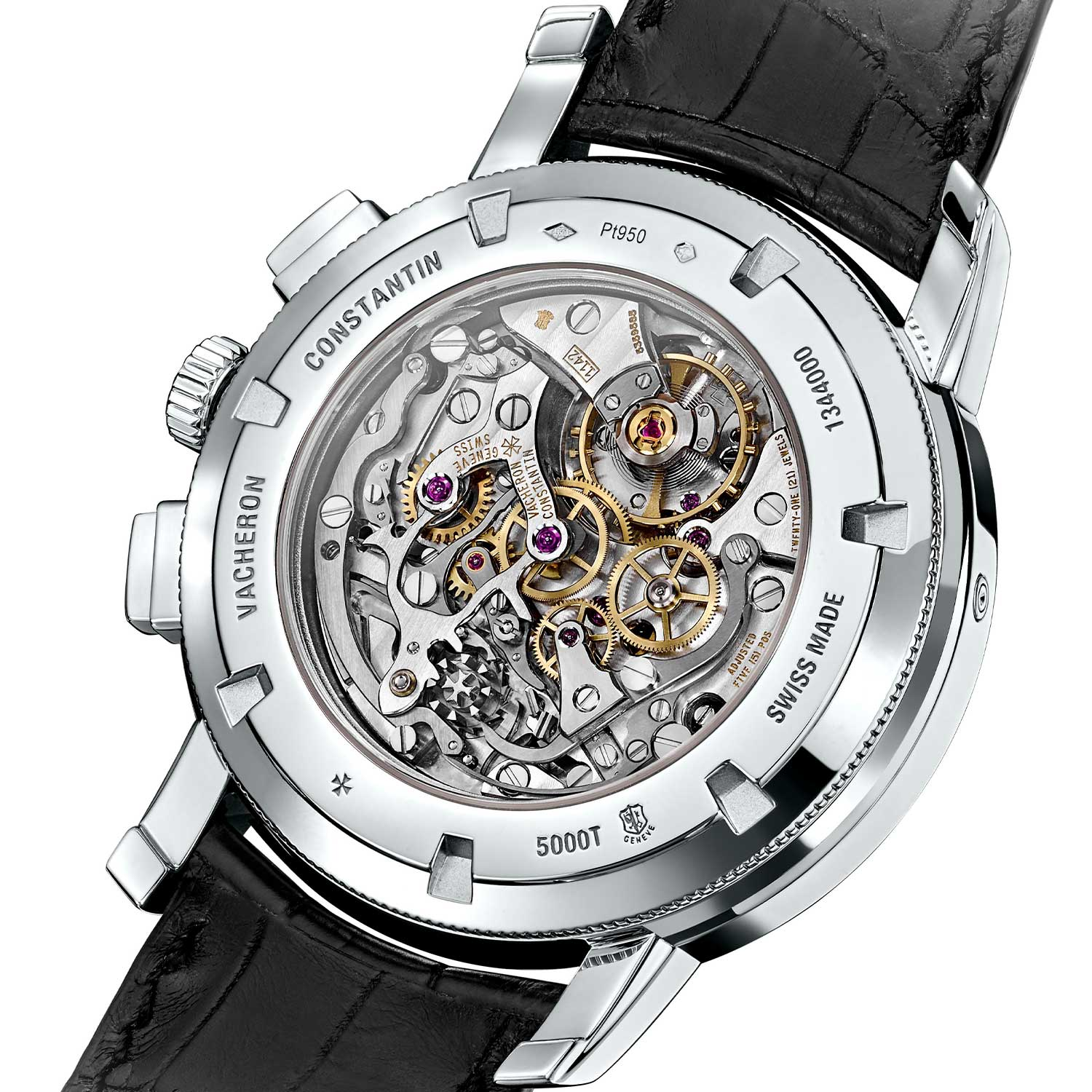 The Vacheron Constantin Traditionnelle Chronograph Perpetual Calendar was powered by the calibre 1142 QP, the Manufacture's take on the Lemania-based chronograph with an incorporated perpetual calendar