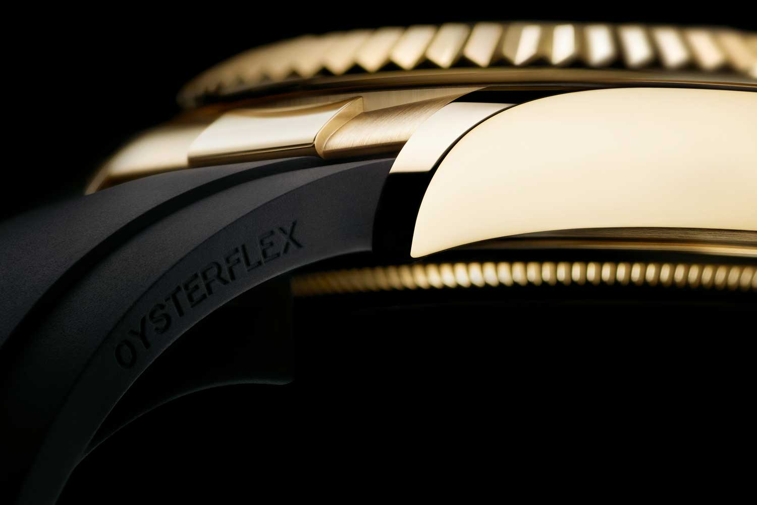 The Oysterflex bracelet is simple in aesthetics but complex in its making