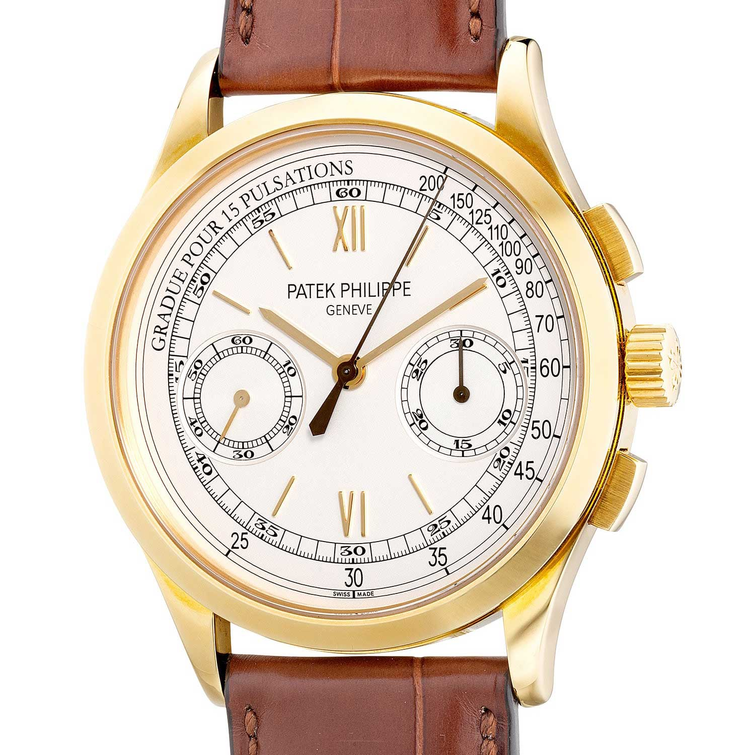 Patek Philippe launched the Ref. 5170J in 2010 as the first chronograph to be powered by their in-house designed calibre CH 29-535 PS (Image: Phillips.com)
