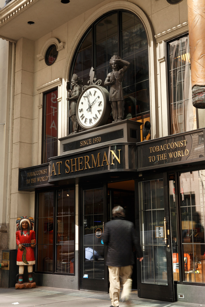 The Nat Sherman store front in New York City (Wikimedia Commons)
