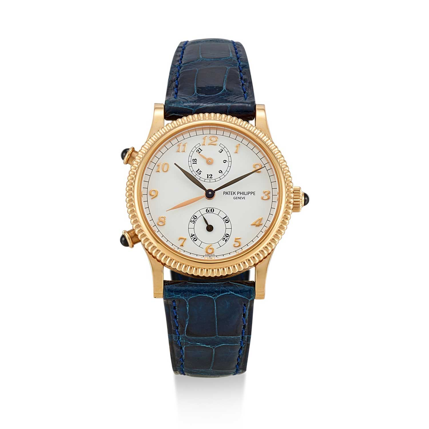 Patek Philippe launched the ref. 4864 Travel Time in 1992, powered by the cal. 215 PS FUS 24H (Image: sothebys.com)