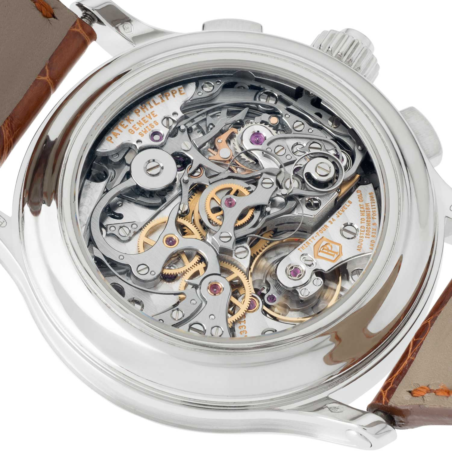 Caseback of Shary's ef. 5370P, in platinum powered by the CH 29-535 based CHR 29-535 movement (©Revolution)