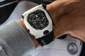 URWERK EMC TimeHunter 'StormTrooper' in White Ceramic