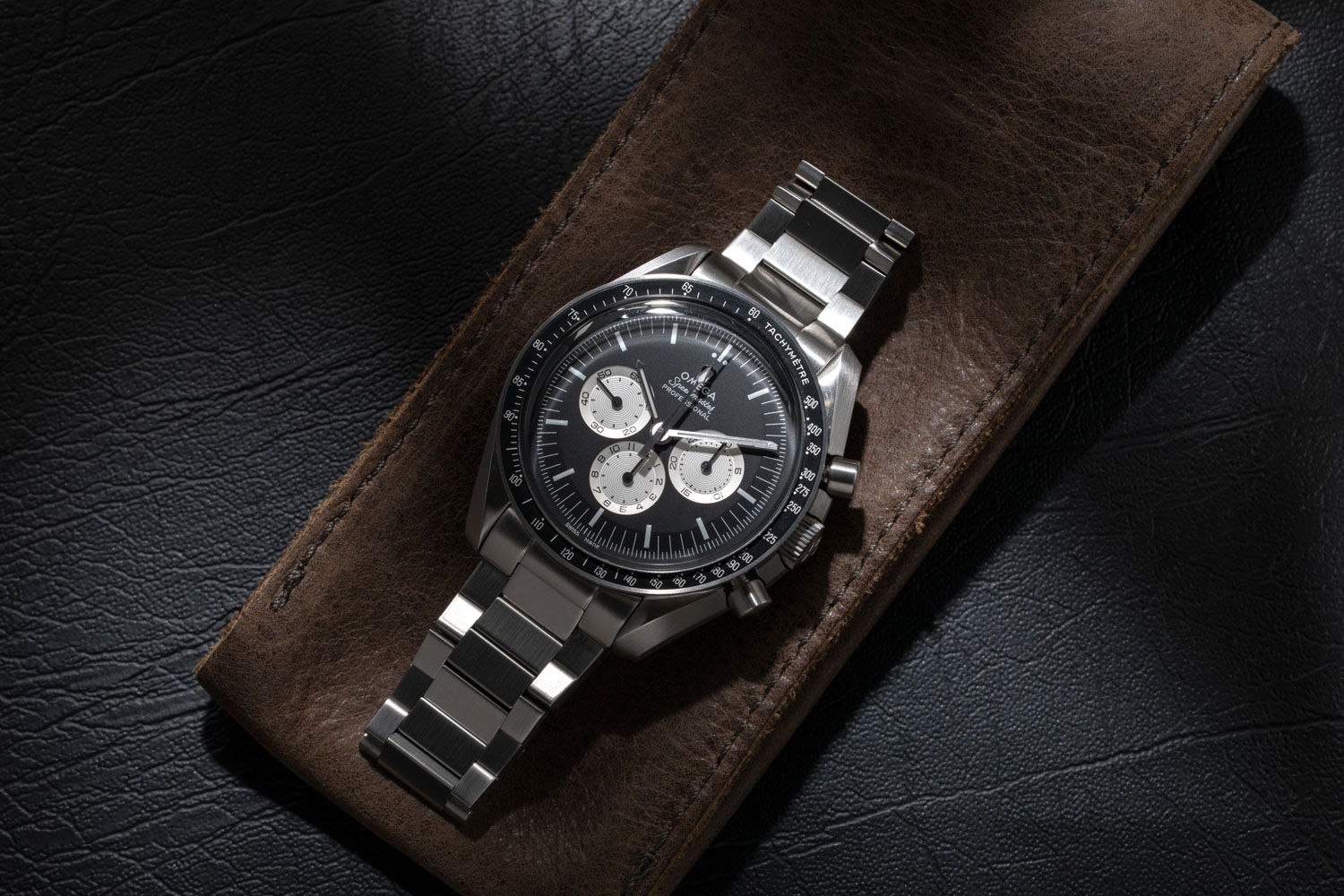 "The Speedmaster ""Speedy Tuesday"" Limited Edition was launched by Omega on Instagram on January 10, 2017 in a limited run of 2012 pieces and sold out in 4 hours, 15 minutes and 43 seconds; here the watch is worn on a flat link bracelet from our friends at forstnerbands.com (©Revolution)"