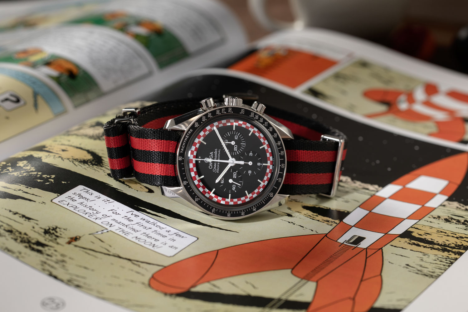 "The Omega Speedmaster ""Tintin"" (©Revolution)"