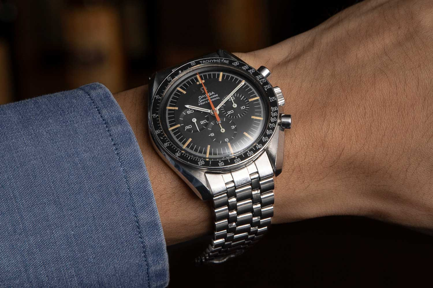 Revolution's Speedmaster Reference 145.012-67 Ultraman with a Holzer bracelet (Los Hombre Ultra), acquired from the Davidoff Brothers (©Revolution)