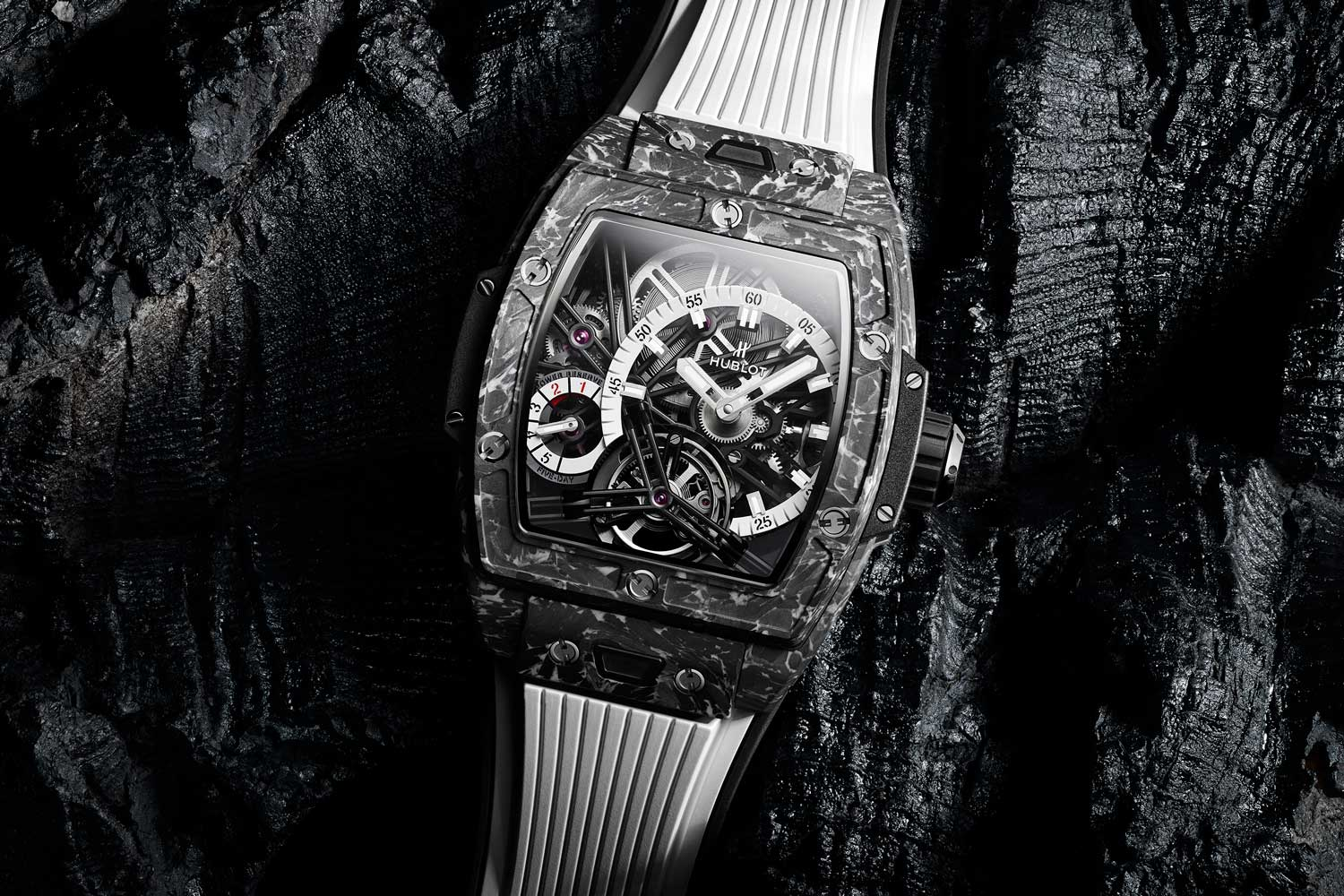 Hublot Spirit of Big Bang Tourbillon 5-day Power Reserve Carbon White