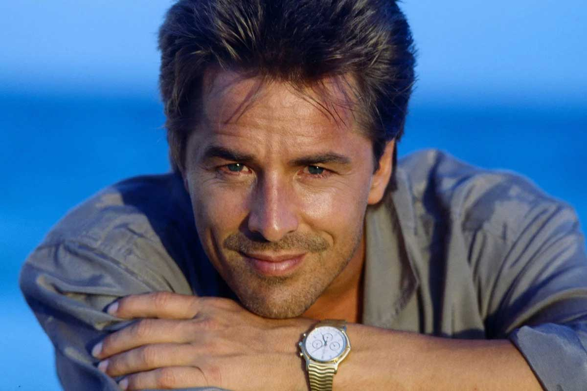 Don Johnson as Sonny Crockett in TV show 'Miami Vice' wearing the Ebel Sport Classic Chronograph