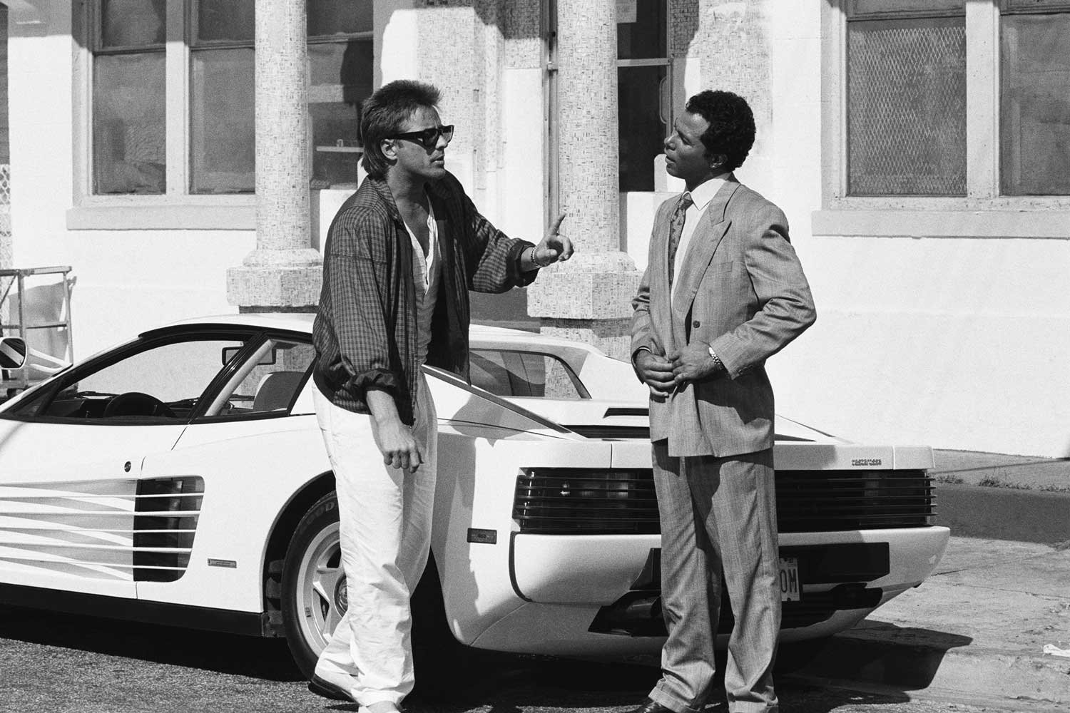 Fake it 'til you make it! 'Fauxrrari' and 'Fauxlex' before Ebel and Ferrari stepped in. The original episodes featured a converted Corvette masquerading as a Ferrari Daytona and Sonny donned a fake yellow gold Rolex!