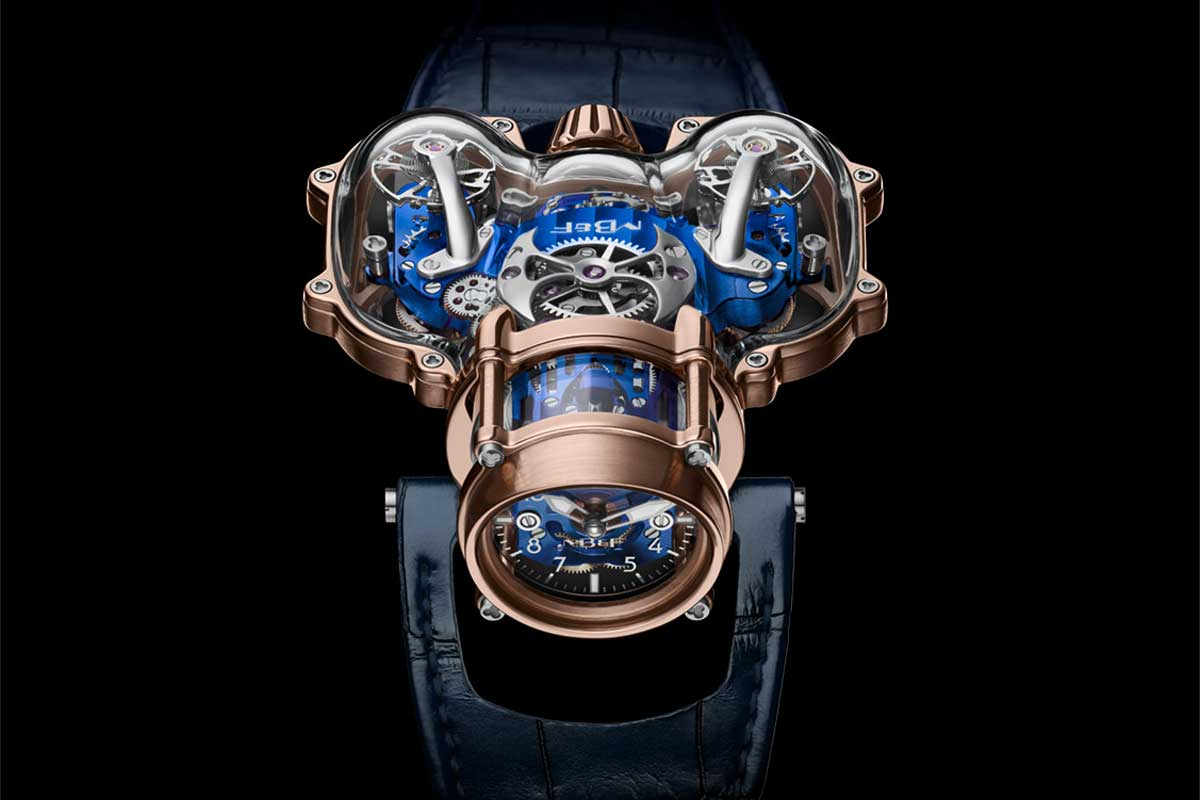 The working and polishing of the sapphire components take around 350 hours per watch.