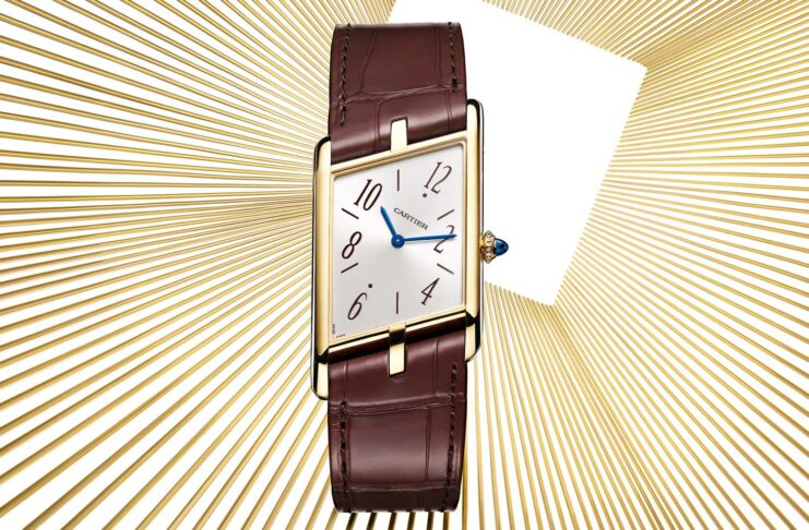 The 2020 Tank Asymétrique in yellow gold (47.15 x 26.2 mm) limited to 100 pieces