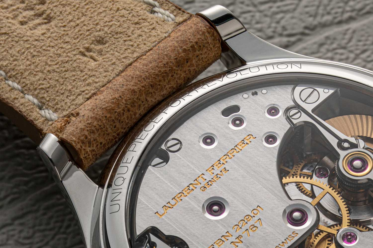 In full disclosure, the Laurent Ferrier Steel Galet Micro-Rotor Salmon Dial pièce unique for Revolution was a prototype for consideration while we were deciding between this and the Laurent Ferrier Classic Origin for Revolution & The Rake, launched as a 12-piece limited edition in 2020 (©Revolution)