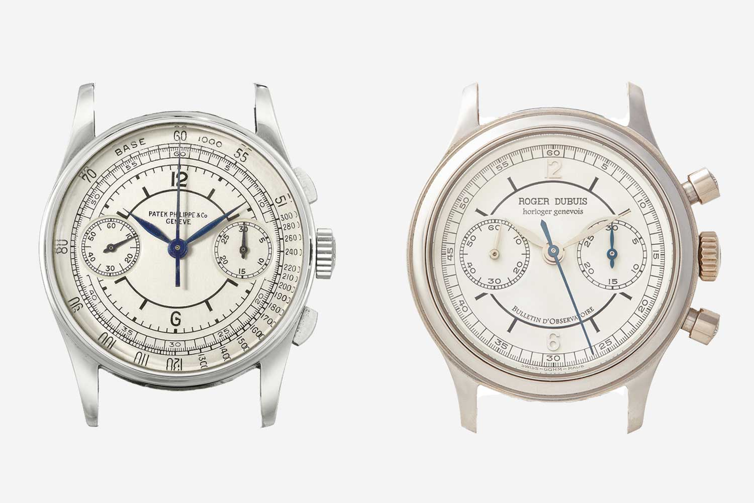 The H34 and H37 came with Sectors or Scientific Dials clearly influenced by the Patek reference 130. There is only one H37 reference from 1998 that does not use a Sector dial and has Roman numerals and sword hands.