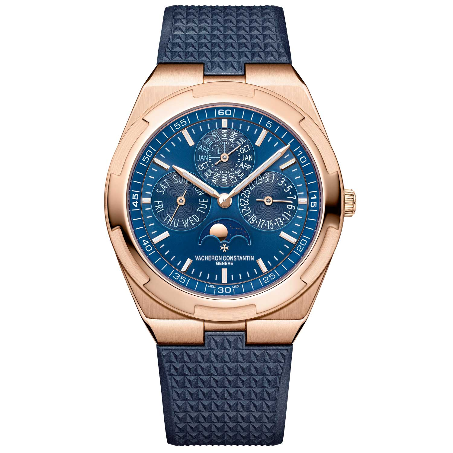 The blue dial version with rubber strap that was released in 2019