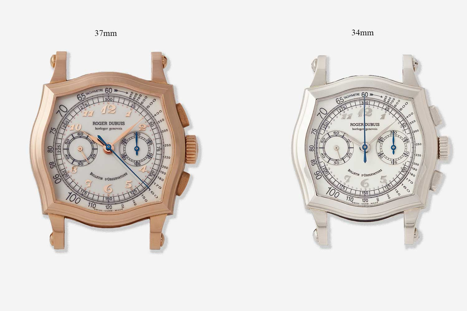 The Sympathie chronograph only came in two sizes, 34mm and 37mm, unlike the Hommage, which also came in 40mm