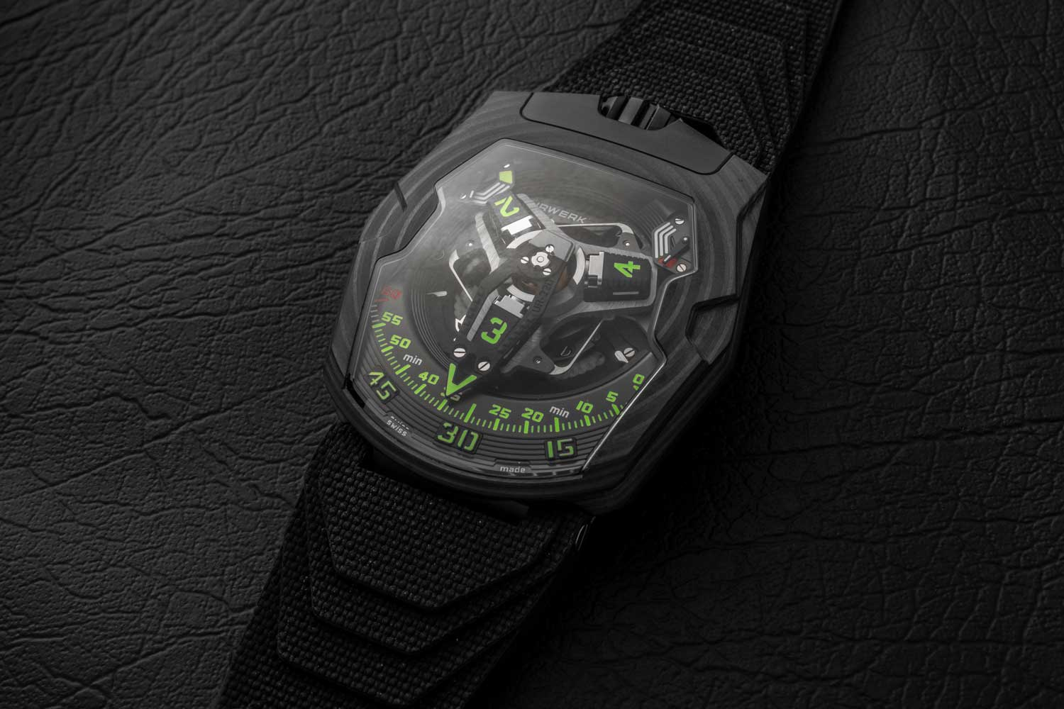 """The URWERK UR-220 """"Falcon Project"""" Carbon Edition, launched in September of 2020 (©Revolution)"""