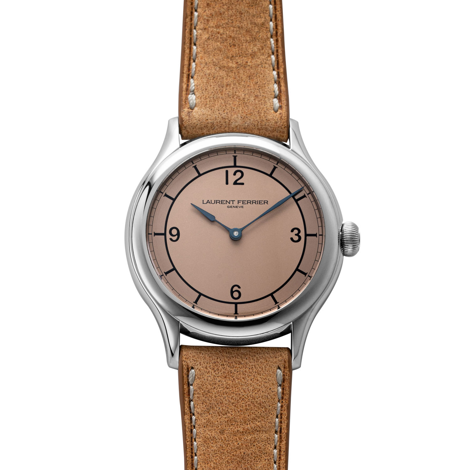 The Laurent Ferrier Steel Galet Micro-Rotor Salmon Dial pièce unique for Revolution (©Revolution)