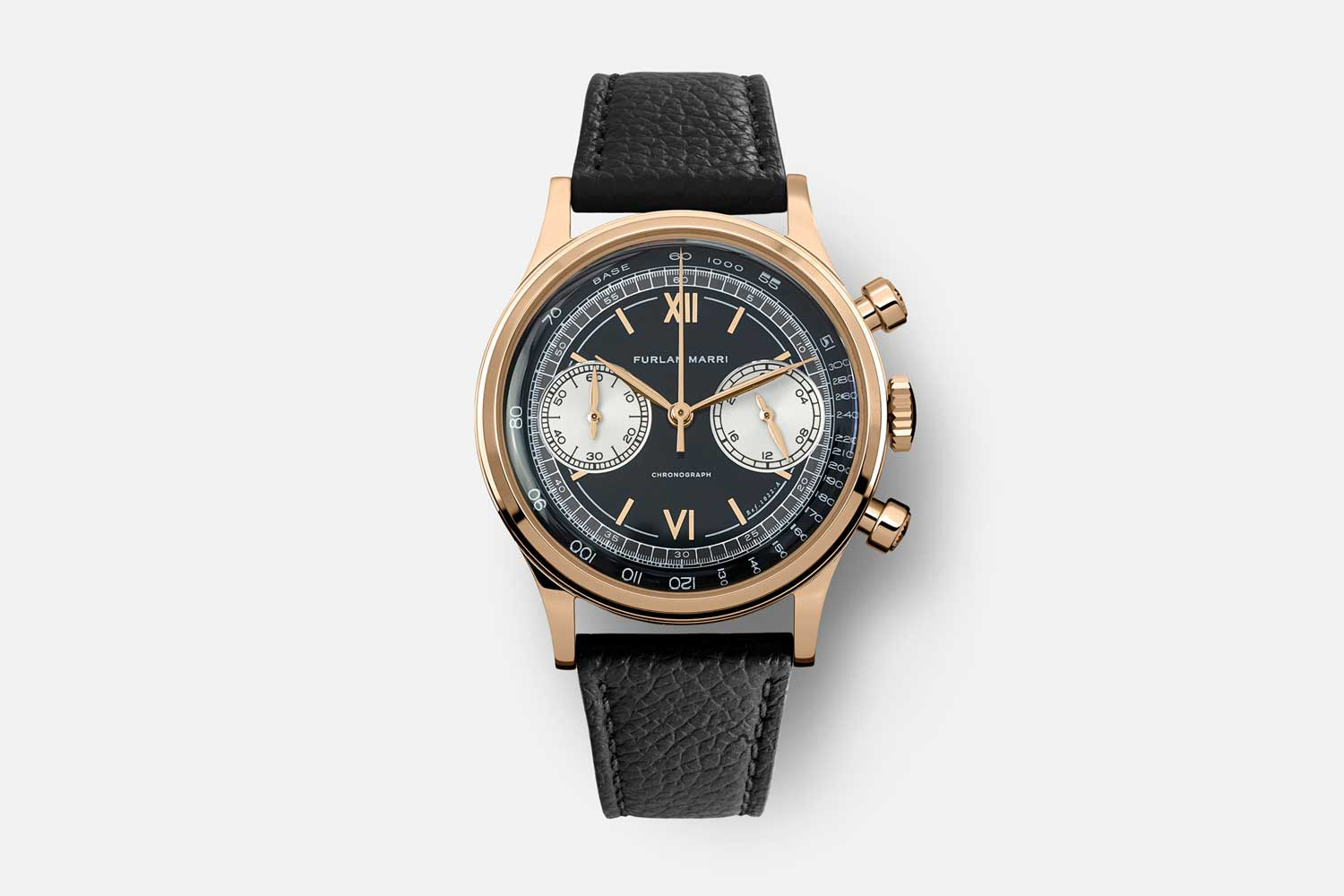 """The 38mm Furlan Marri Ref. 1022-B """"Farro"""" in 4N Rose Gold, with two tone lacquered dial"""