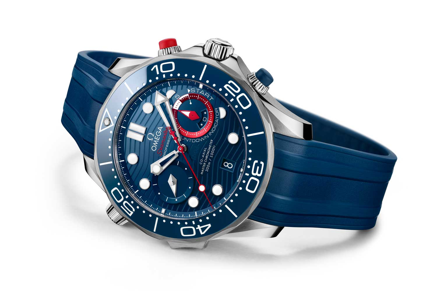 The latest model is based on the chronograph Seamaster Diver 300M released in 2019.