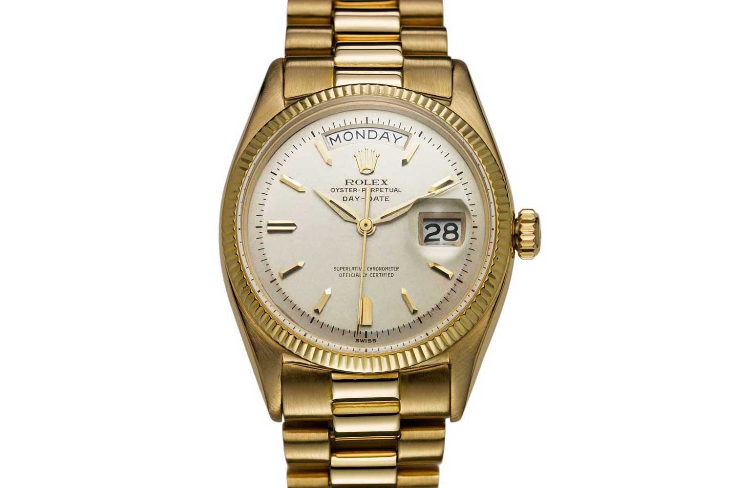 First model of the Rolex-Day-Date from 1956.