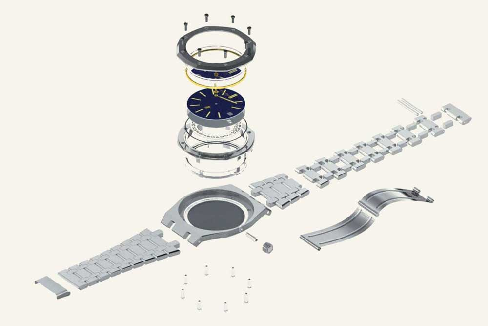 The Royal Oak's eight-sided bezel and exposed screw design has become one of the most recognizable in modern luxury.