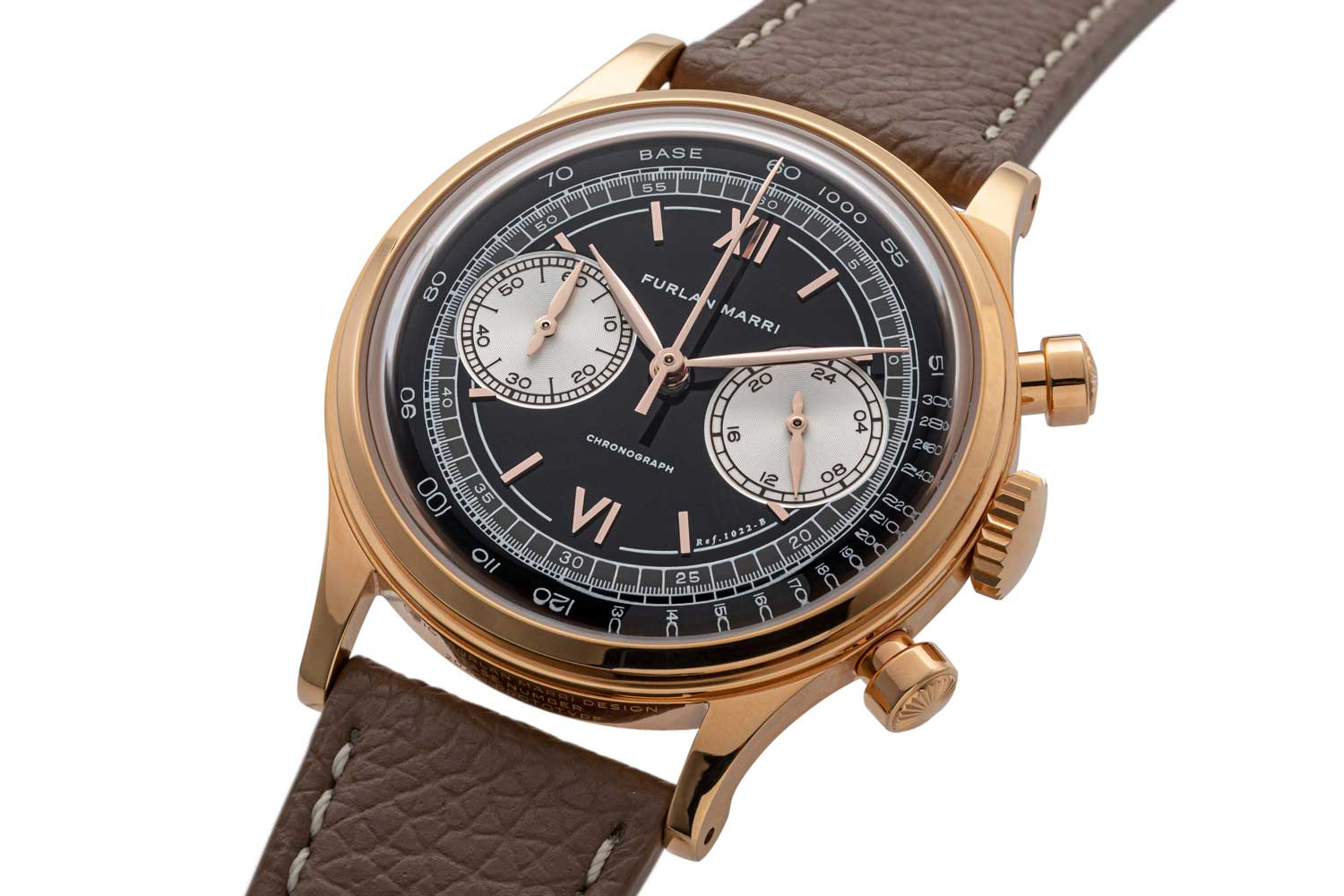"""The 38mm Furlan Marri Ref. 1022-B """"Farro"""" in double electroplated 4N Rose Gold (©Revolution)"""