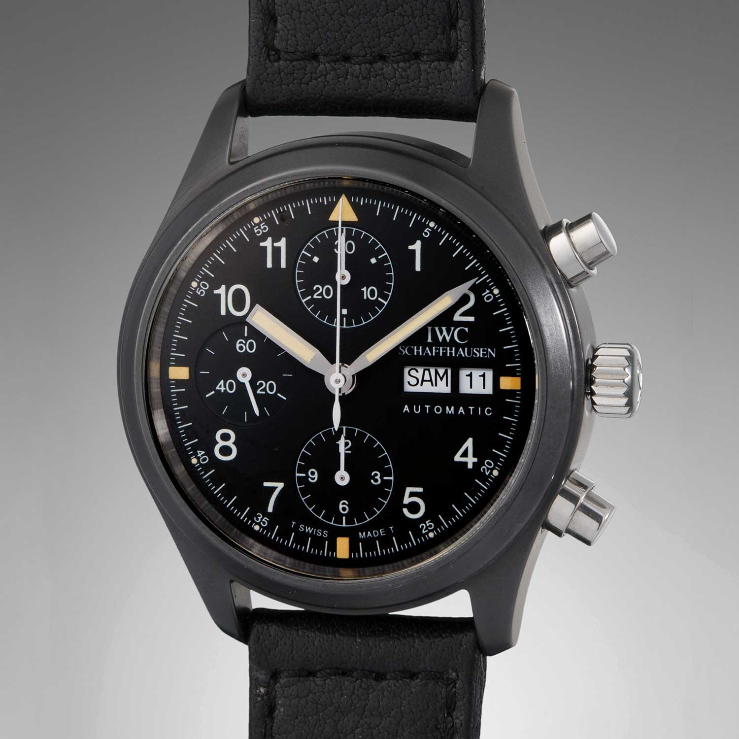 Blümlein purchased a ref. 3705 as a gift for his wife in 2001 and the watch fetched a staggering USD 53,750 at Phillips in 2018. (Image: Phillips Watches)