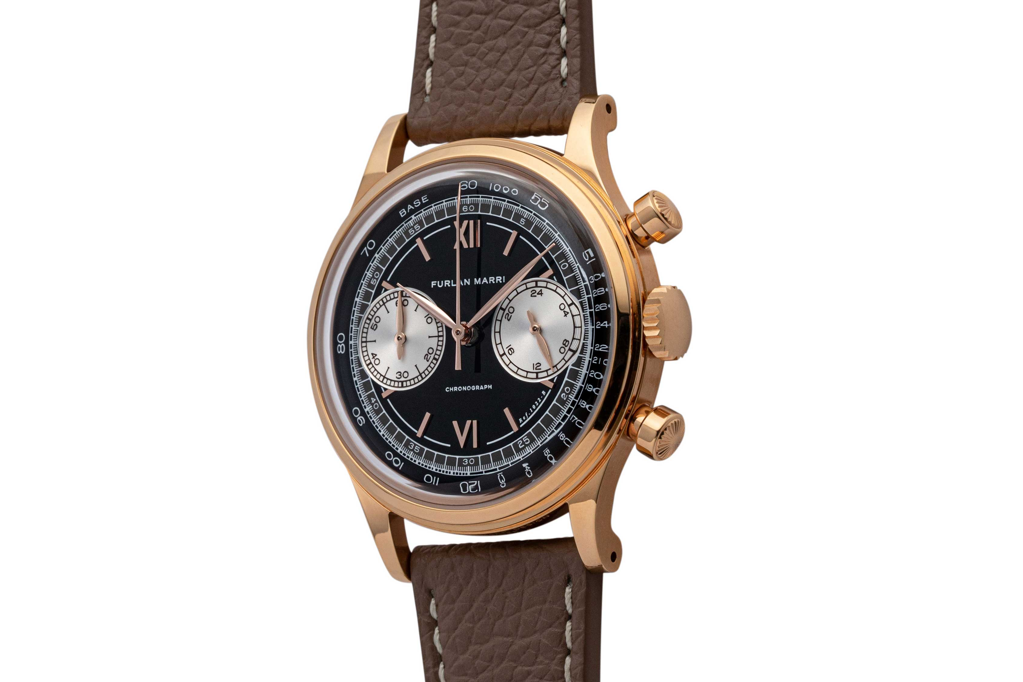 Check out how the crown and pushers are in the same styling at the François Borgel case of the Patek Philippe Chronograph ref. 1463 (©Revolution)