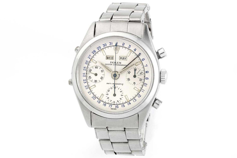"The Rolex ""Jean-Claude Killy"" triple-calendar chronograph."