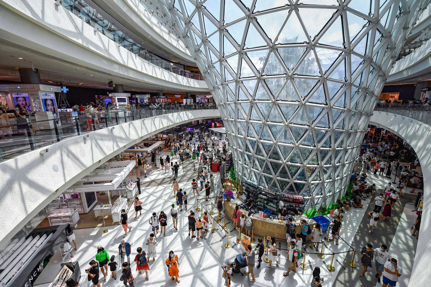 A duty-free mall in China's Hainan province, which is the new Mecca for luxury spenders in the region.