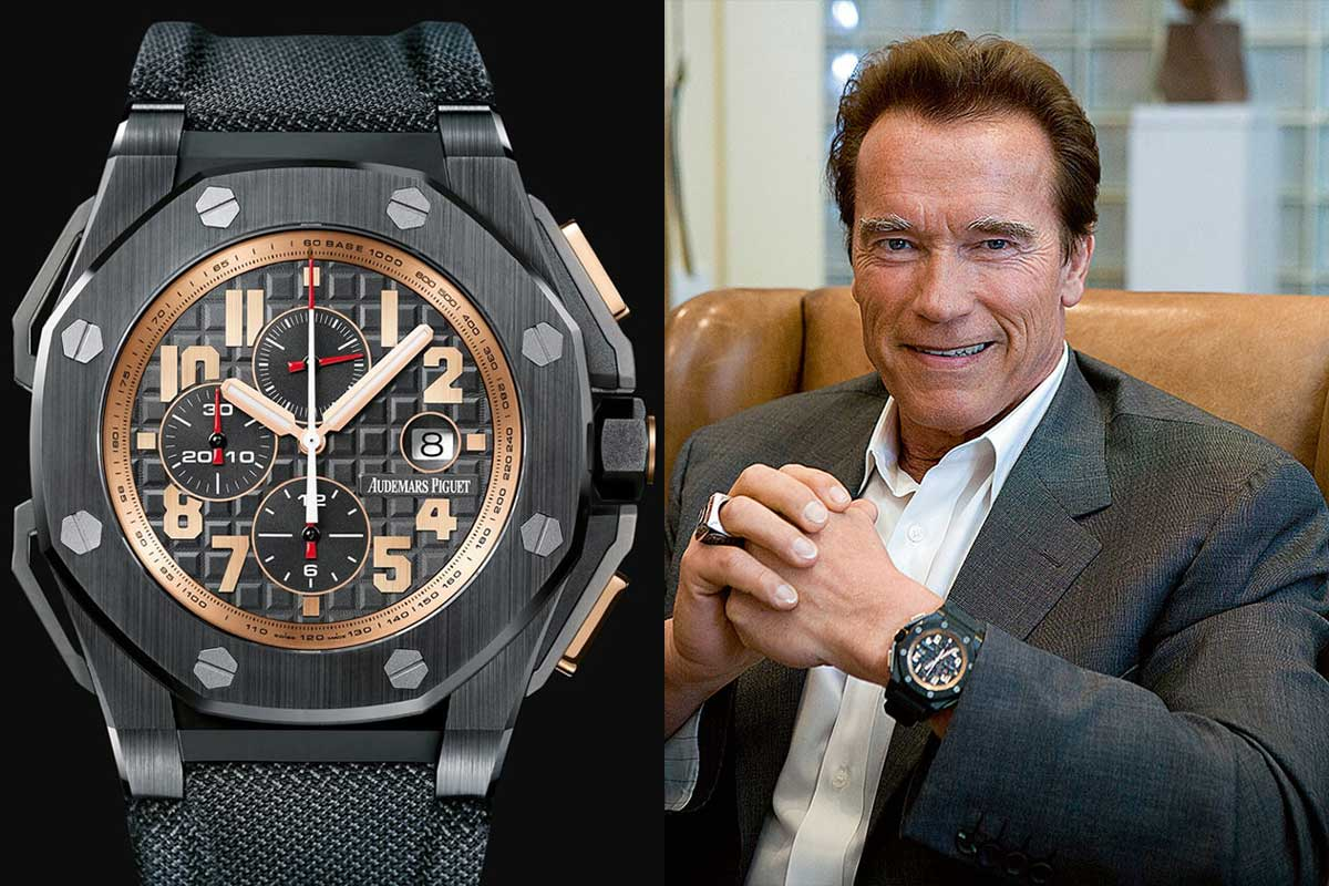 Audemars Piguet has had several special editions inspired by actor Arnold Schwarzenegger, who is one of the biggest patrons of the Royal Oak Offshore.