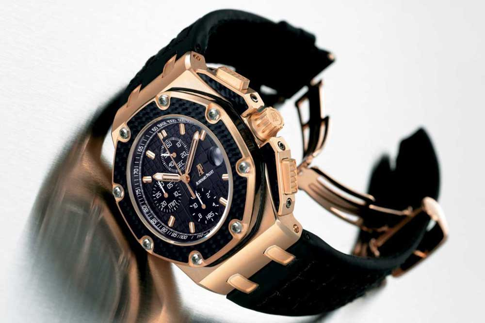 Royal Oak Offshore Juan Pablo Montoya (2004) in rose gold case with carbon inserts, limited edition of 500 pieces
